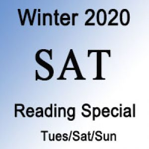 SAT Winter Reading Special