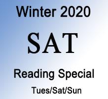 SAT Winter Reading Special