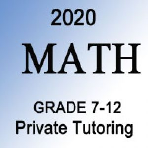 Math Private Tutoring