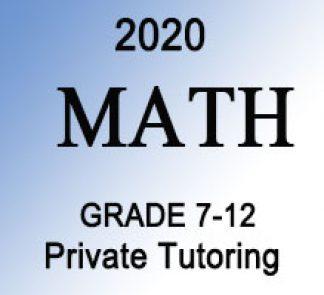Math Private Tutoring