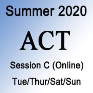 ACT Summer Online Prep Course