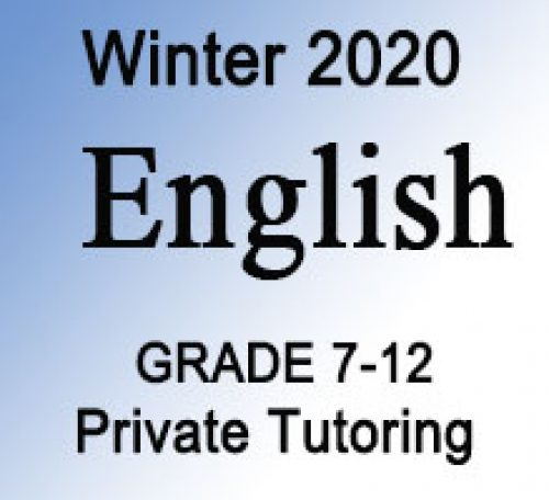 English Private Tutoring