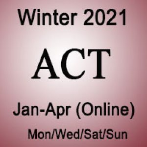 ACT Winter Online Prep Course