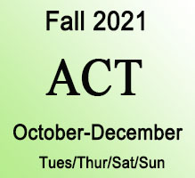 ACT Fall Online Prep Course
