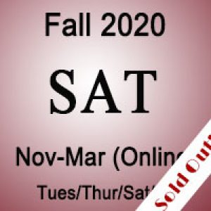 SAT Fall Online Prep Course