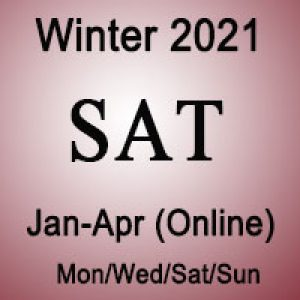 SAT Winter Online Prep Course
